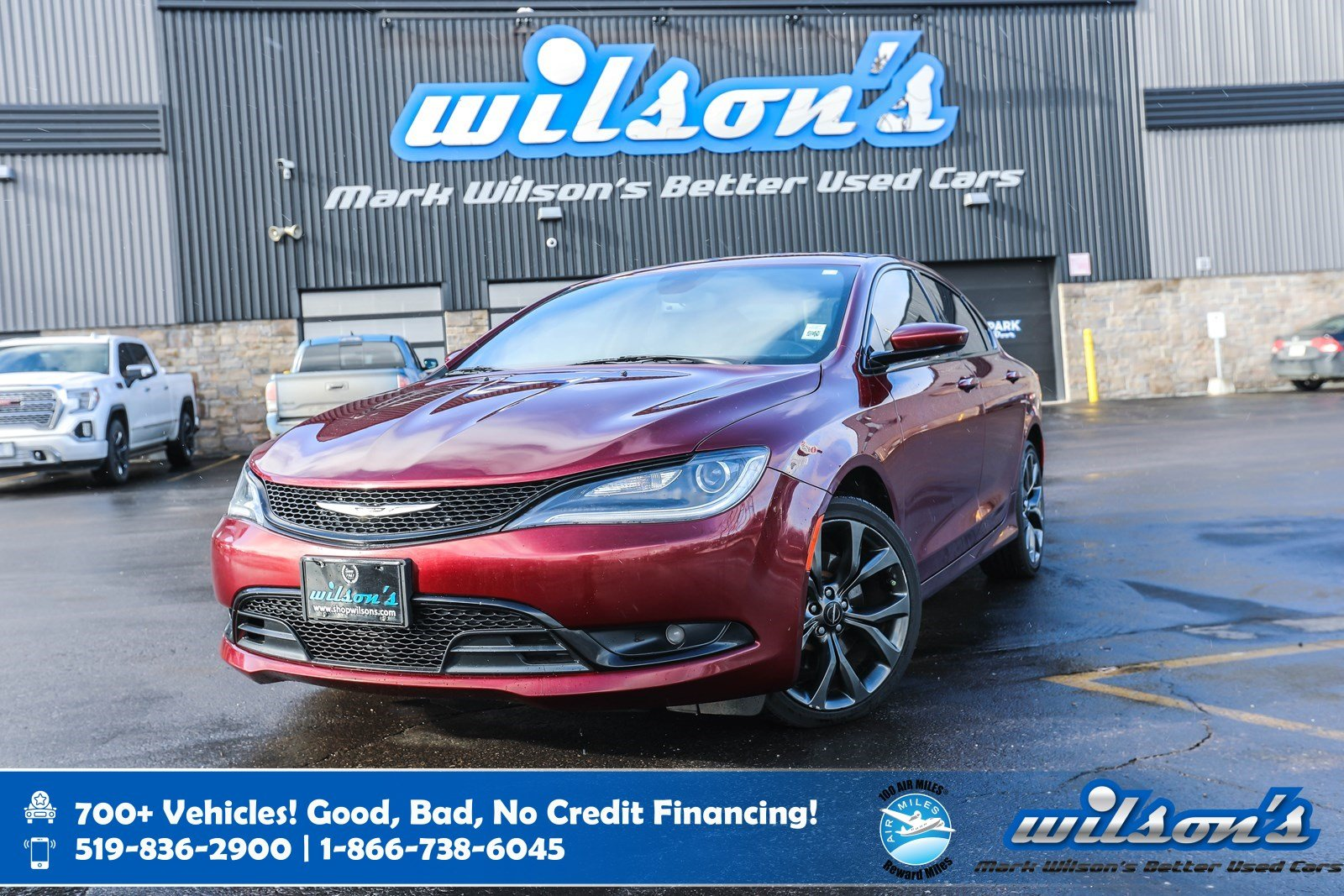 Certified Pre-Owned 2015 Chrysler 200 S AWD, Sport Seats w/Leather Trim! Rear Camera, New Tires, Bluetooth, Remote Start, & more