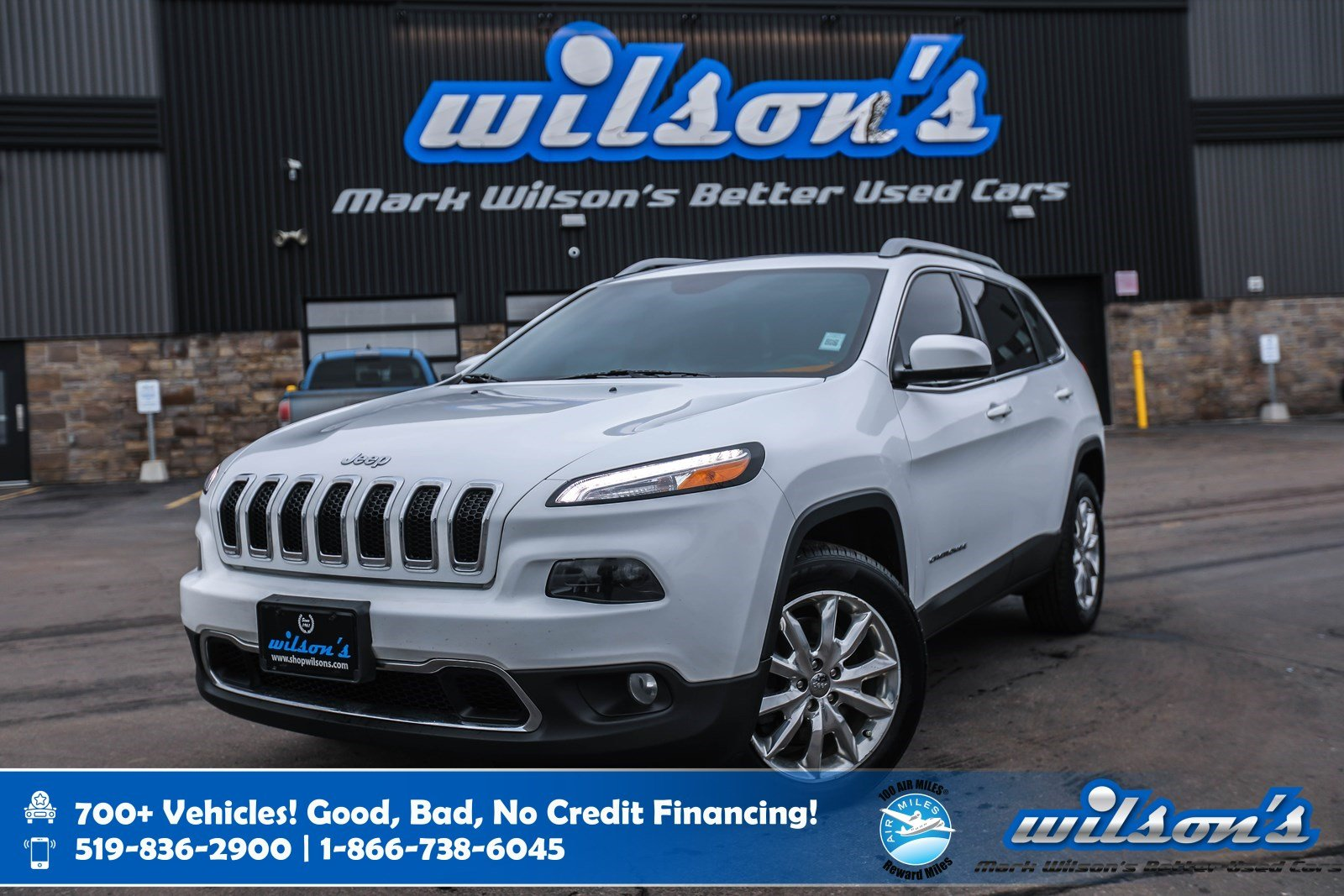 Certified Pre-Owned 2016 Jeep Cherokee Limited 4x4, Leather, Navigation, Sunroof, New Tires, Heated Steering + Seats, Remote Start and more