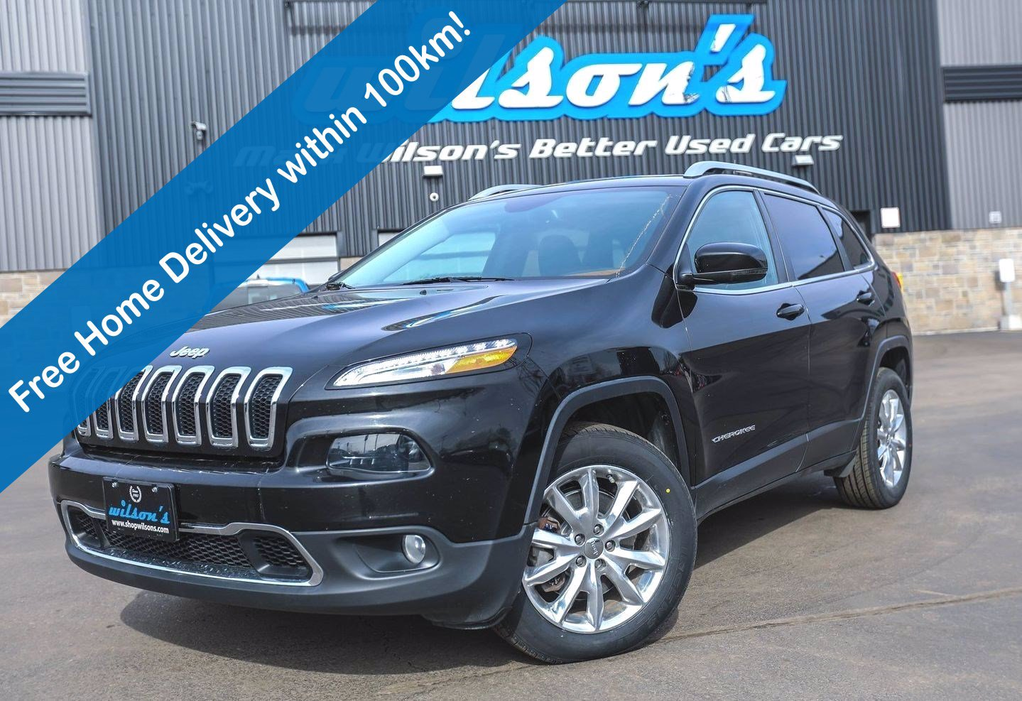 Certified Pre-Owned 2016 Jeep Cherokee Limited 4x4, Leather, Navigation, Sunroof, Heated Steering + Seats, Remote Start and more!