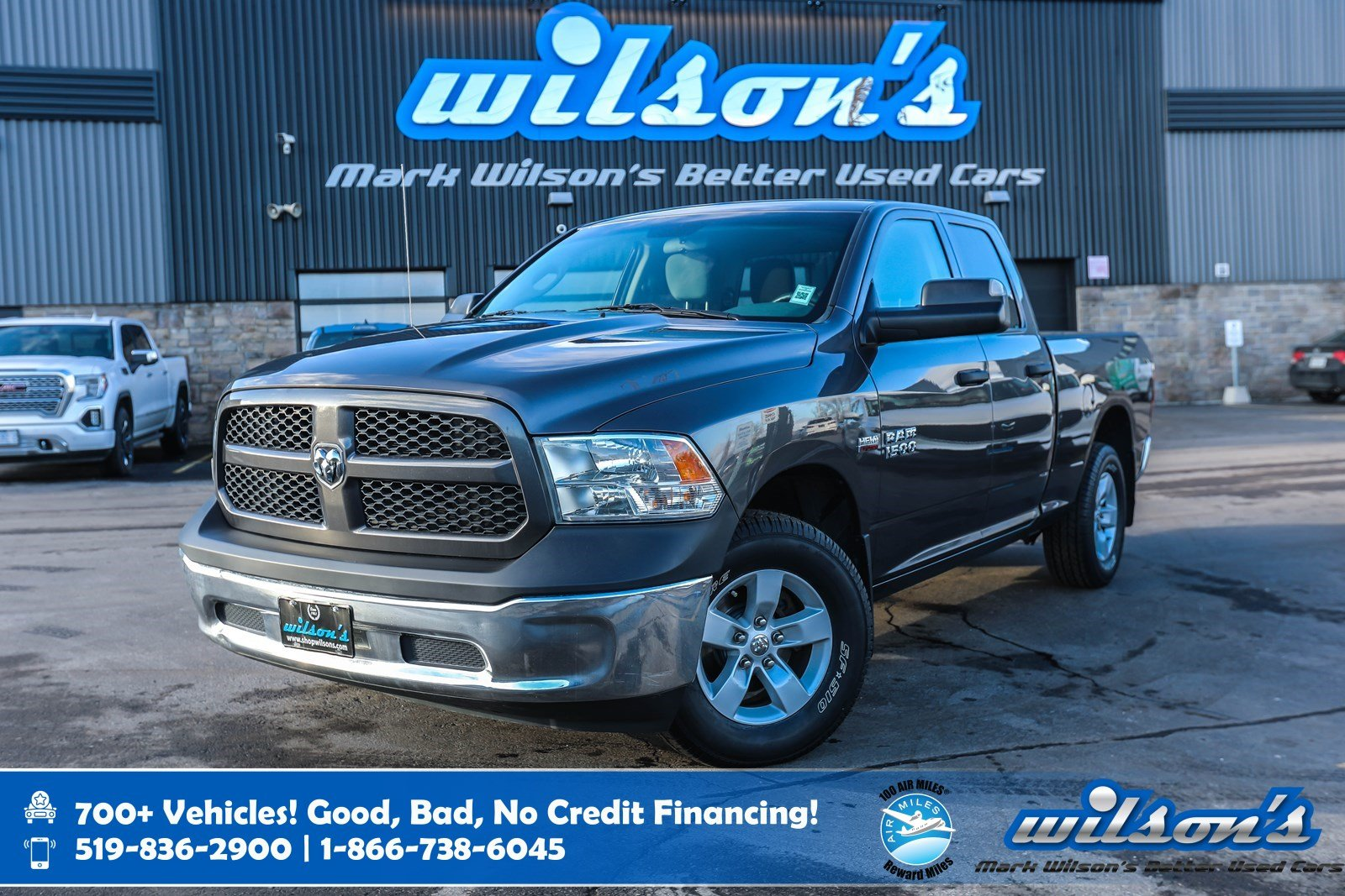 Certified Pre-Owned 2016 Ram 1500 ST Quad Cab 4x4 - SXT Upgrade, 5.7L HEMI V8, Tow Package, 3.92 Rear Axle Ratio, Bedliner & More!