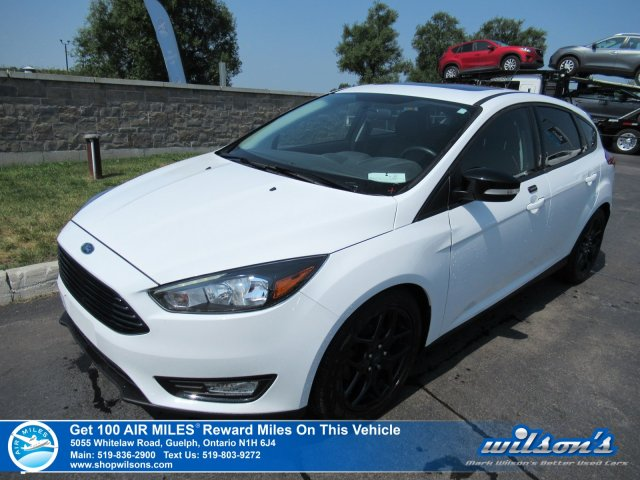 Certified Pre-Owned 2016 Ford Focus SE Hatchback - Leather, Sunroof, Navigation, Bluetooth, Heated Steering, Alloys and more!