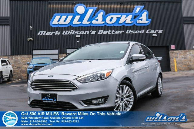Certified Pre-Owned 2018 Ford Focus Titanium Hatchback - Leather, Sunroof, Heated Seats, Bluetooth, Sony Audio, Apple Car Play & More!