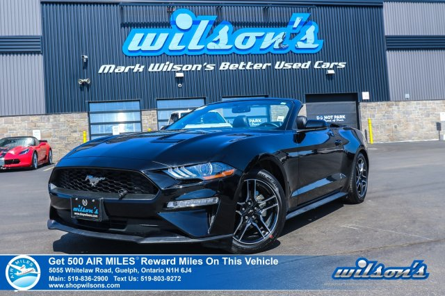 Certified Pre-Owned 2018 Ford Mustang Convertible - Leather, Navigation, Rear Camera, Bluetooth, Heated + A/C Seats and more!