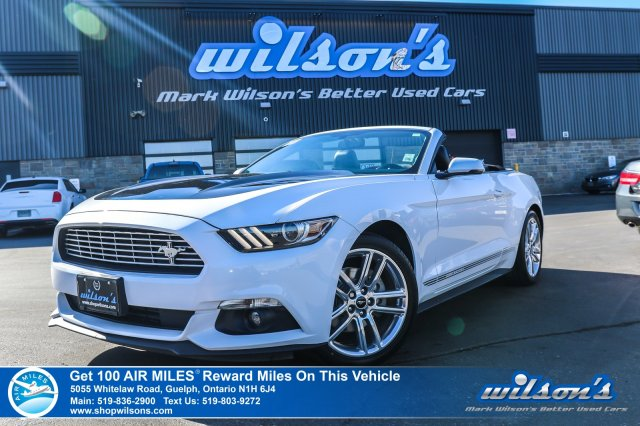 Certified Pre Owned 2017 Ford Mustang Convertible Ecoboost Premium Leather Navigation Heated Seats Rear Camera Bluetooth And More In