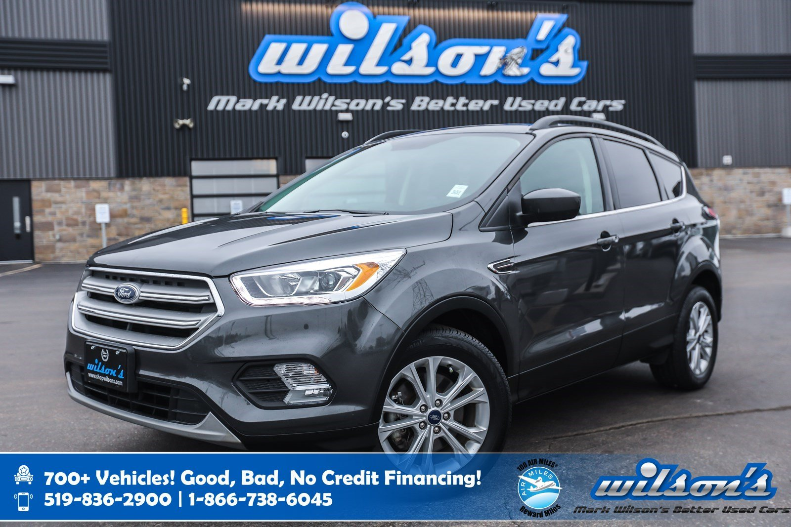 Certified Pre-Owned 2018 Ford Escape SEL 4WD, Leather, Navigation, Sunroof, Heated + Power Seats, Bluetooth and more!