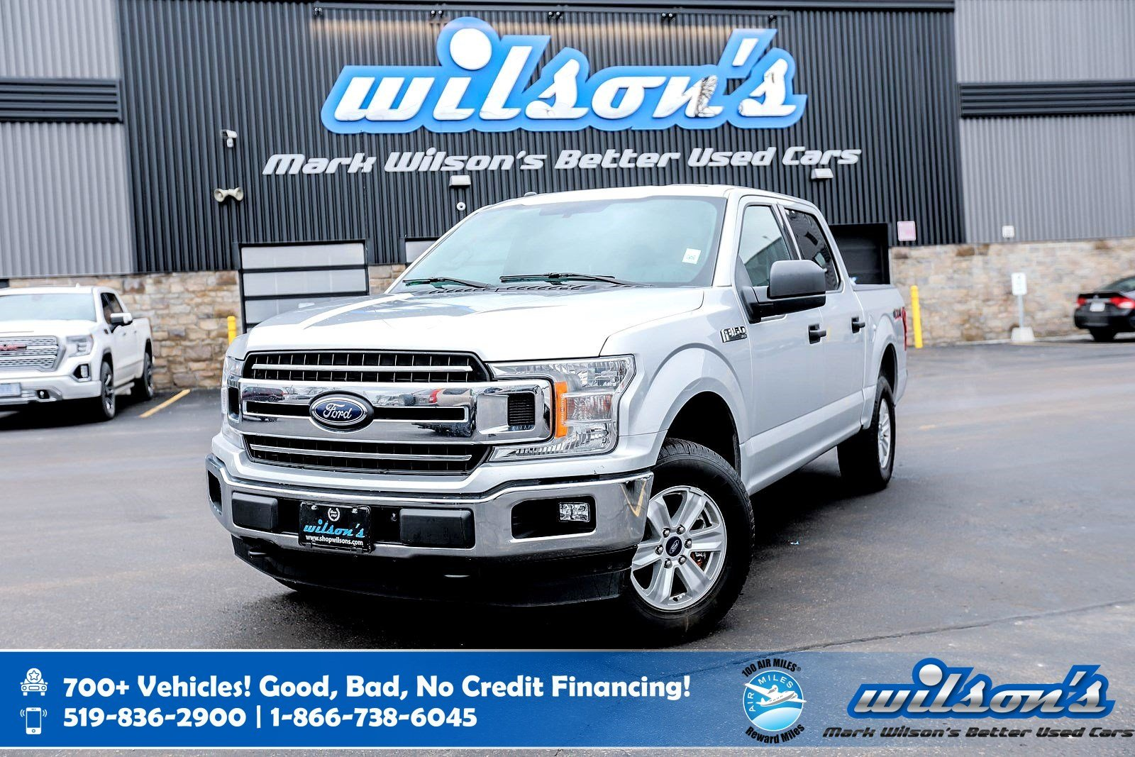 Certified Pre-Owned 2018 Ford F-150 XLT V8 5.0L, 4WD Crew Cab, Trailer Hitch, Boxliner, New Tires, Rear Cam, Bluetooth, One Owner!