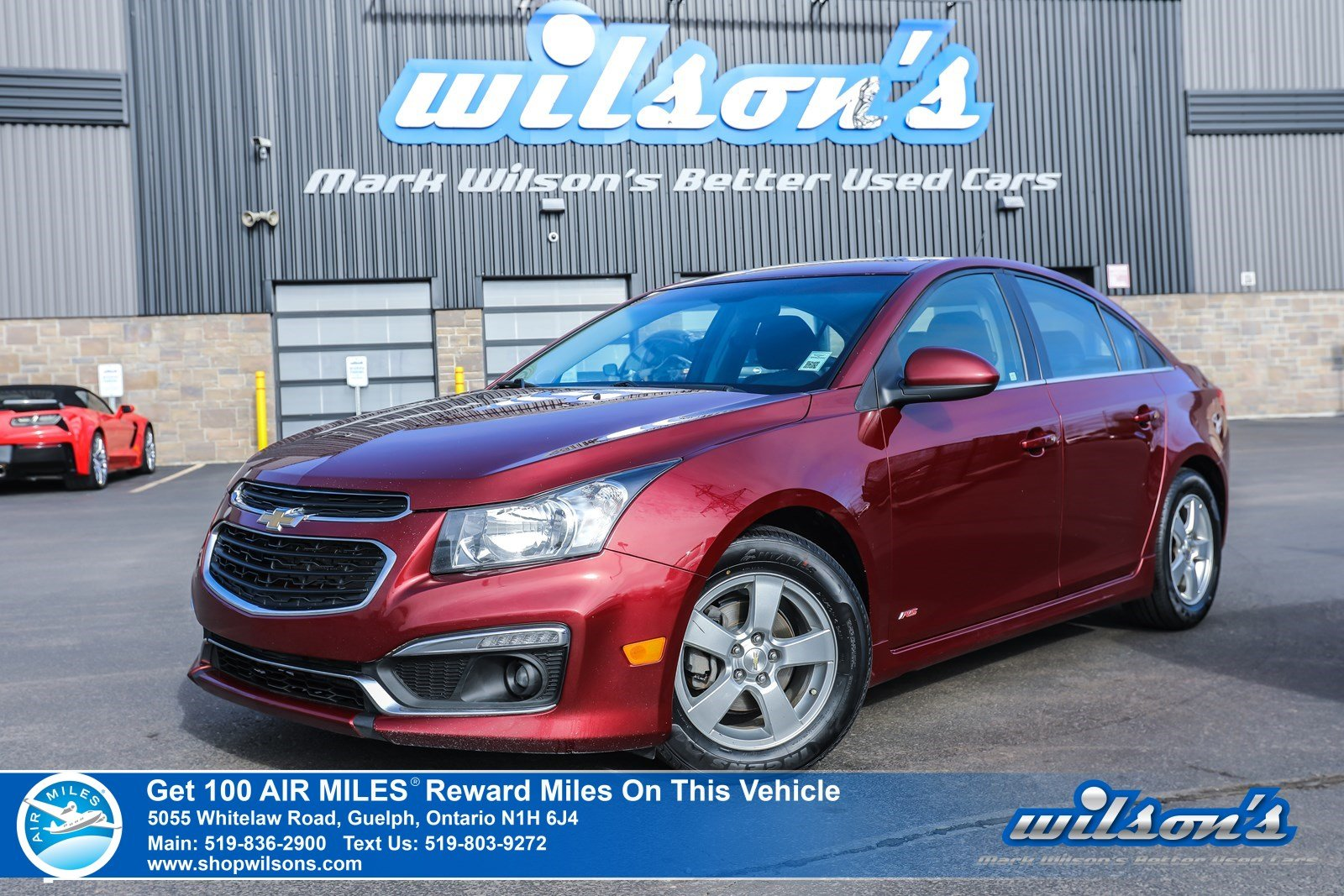 Certified Pre-Owned 2015 Chevrolet Cruze 1LTW/ RS Package Used - NEW TIRES! Sunroof, Rear Camera, Bluetooth, Pioneer Audio and more!