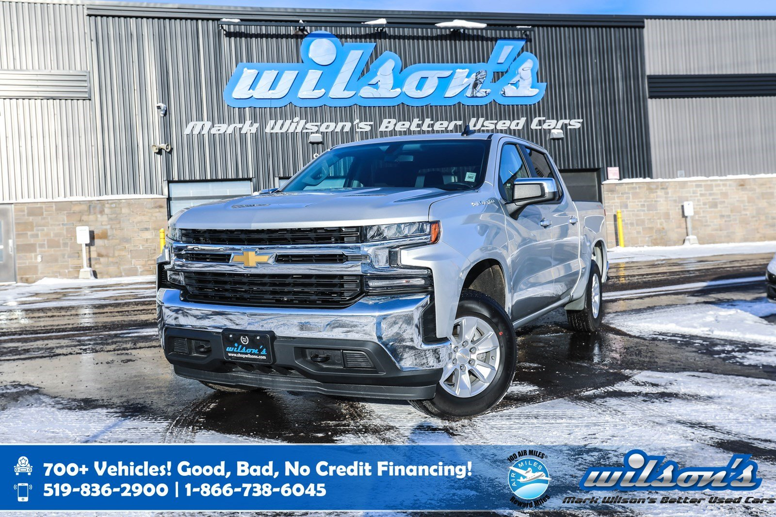 "Certified Pre-Owned 2019 Chevrolet Silverado 1500 LT Crew Cab 4x4, 8"" Touchscreen, Android Auto + Apple CarPlay, Bluetooth and more!"