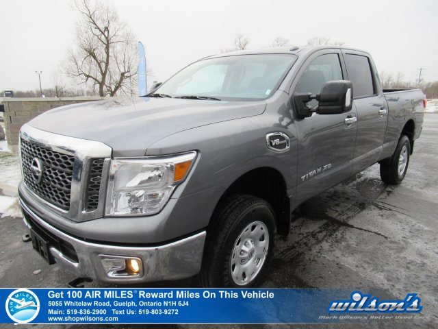 Certified Pre-Owned 2018 Nissan Titan SV XD Crew 4x4 5.6 V8 - Rear Camera, Bluetooth, Tow Package, Power Group and more!