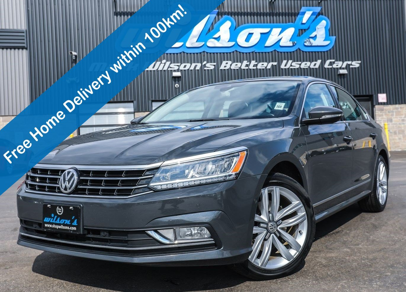 Certified Pre-Owned 2017 Volkswagen Passat Highline, Leather, Navigation, Sunroof, Rear Camera, Bluetooth, Heated + Memory Seats and more!