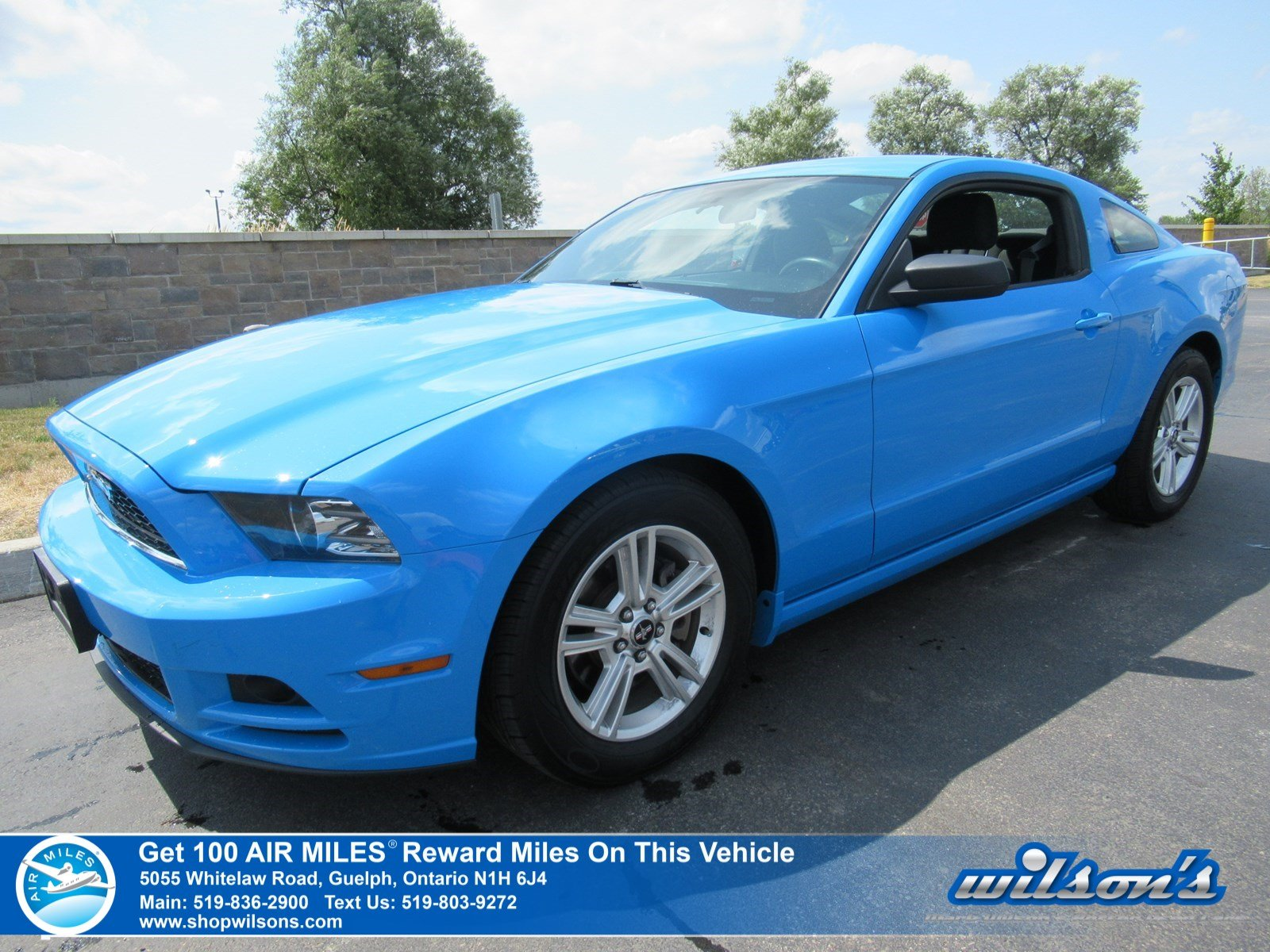 Certified Pre-Owned 2014 Ford Mustang V6 Coupe - Grabber Blue! Only 30,000km! Manual, Power Package, Alloys, and Much More!