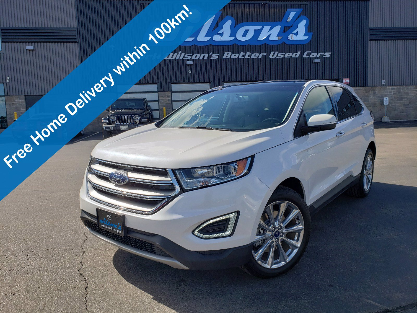 Certified Pre-Owned 2018 Ford Edge Titanium AWD V6, Leather, Sunroof, Navigation, Cooled+Heated Seats, Rear Camera, & Much More!