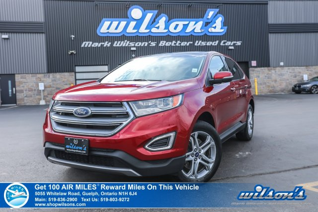 Certified Pre-Owned 2016 Ford Edge Titanium V6 AWD, Leather, Navigation, Panoramic Sunroof, Heated Seats, Power Seat, Bluetooth
