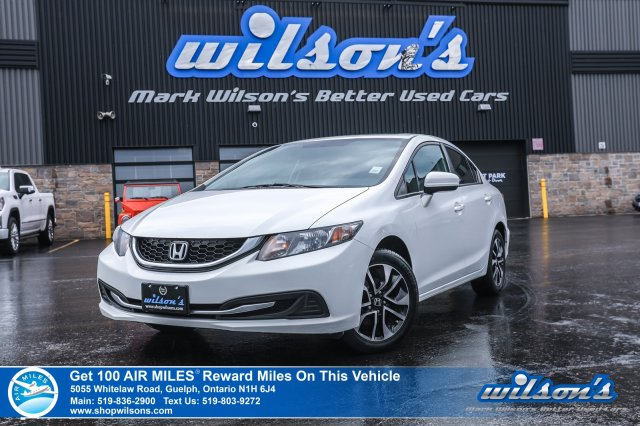 Certified Pre-Owned 2014 Honda Civic Sedan EX - NEW TIRES! Sunroof, Heated Seats, Bluetooth, Rear Camera, Alloy Wheels and more!