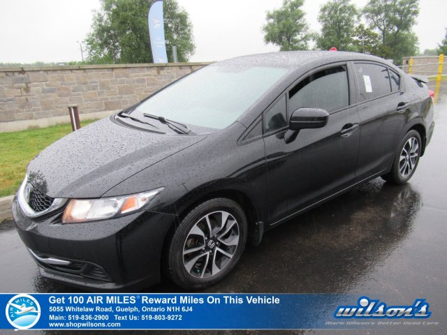 Certified Pre-Owned 2015 Honda Civic EX - Sunroof, Honda Spoiler, Heated Seats, Bluetooth, Rear Camera, Alloy Wheels and more!