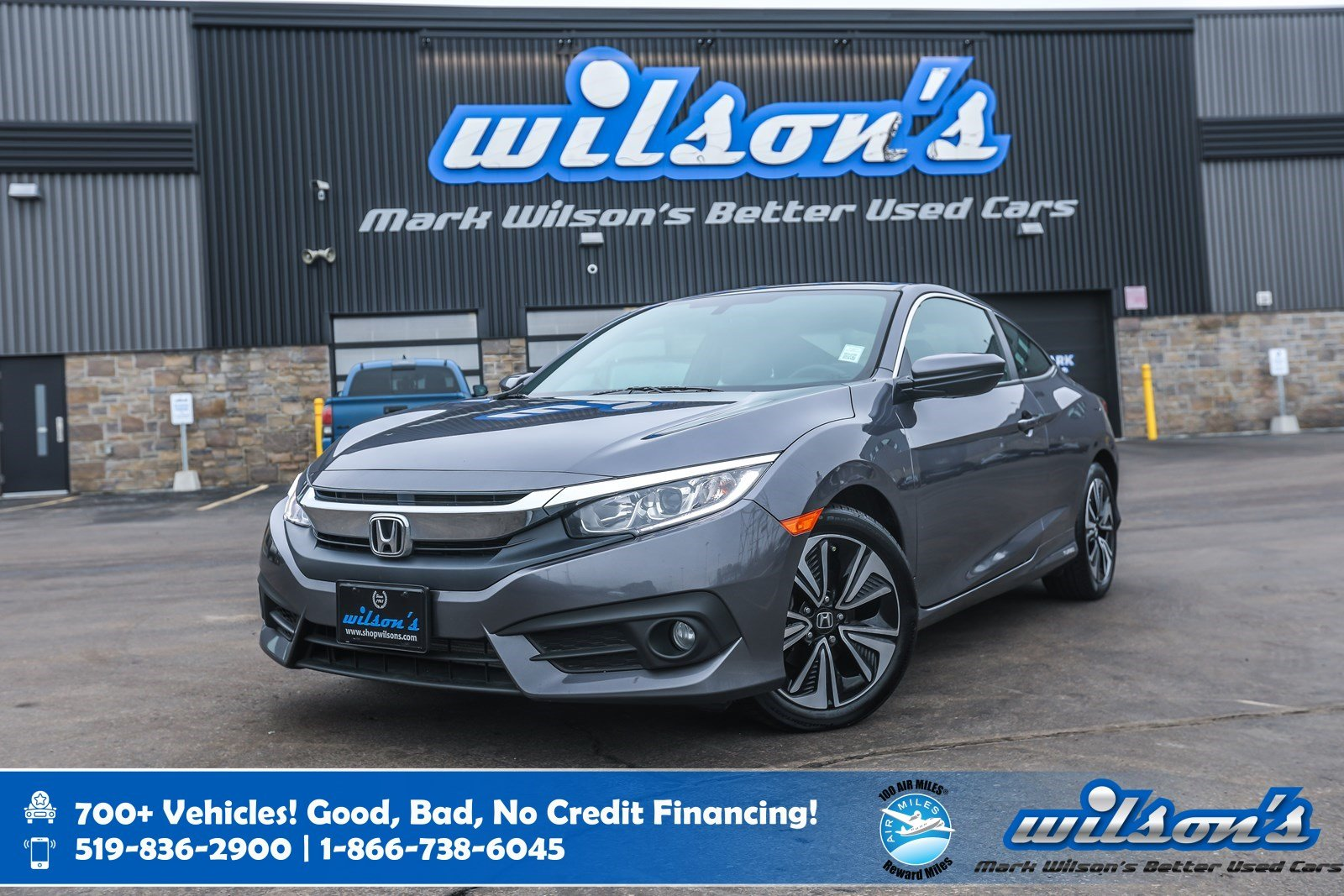 Certified Pre-Owned 2016 Honda Civic EX-T Coupe, Sunroof, Remote Start, Bluetooth, Heated Seats, Alloys & More!