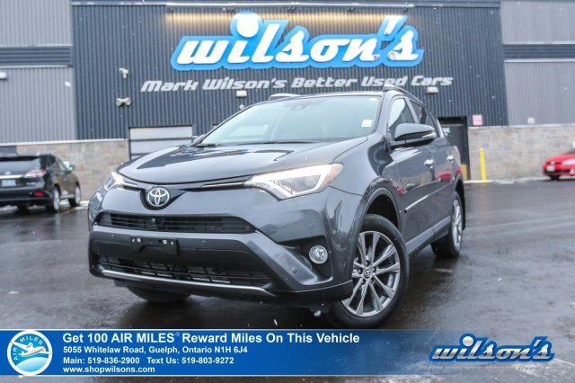 Certified Pre-Owned 2016 Toyota RAV4 Limited - Leather, Sunroof, Navigation, 360 Camera, Blind Spot Monitor & More!