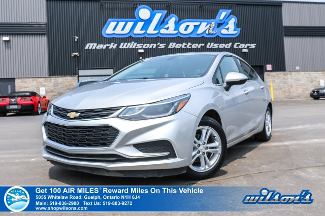 Certified Pre-Owned 2017 Chevrolet Cruze LT - New Shape! Rear Camera, Bluetooth, Alloys, Apple CarPlay, Remote Start & More!