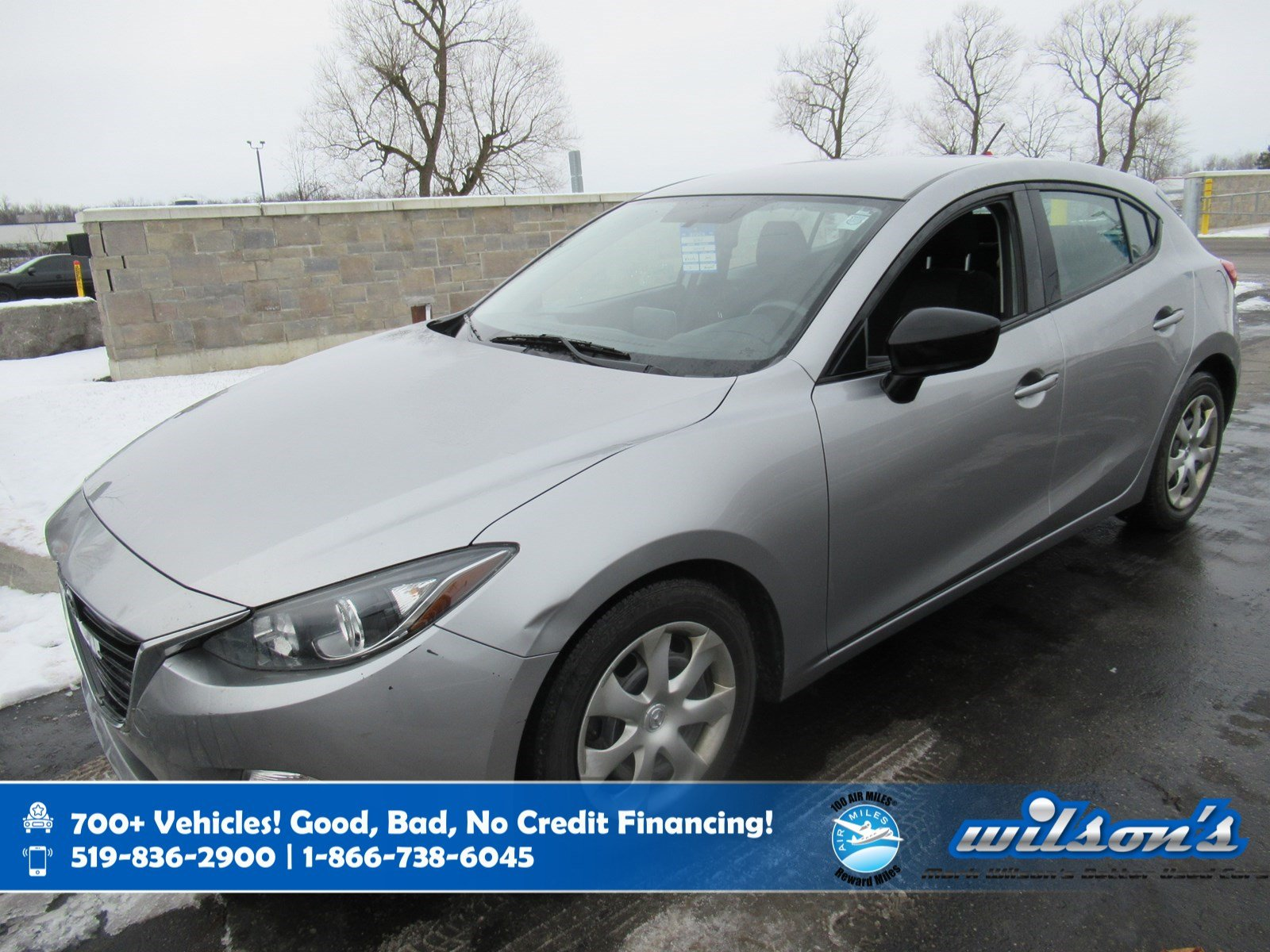 Certified Pre-Owned 2016 Mazda3 GX Hatchback, 6 Speed, Navigation, Rear Camera, Bluetooth, Keyless Entry, Cruise Control and more!