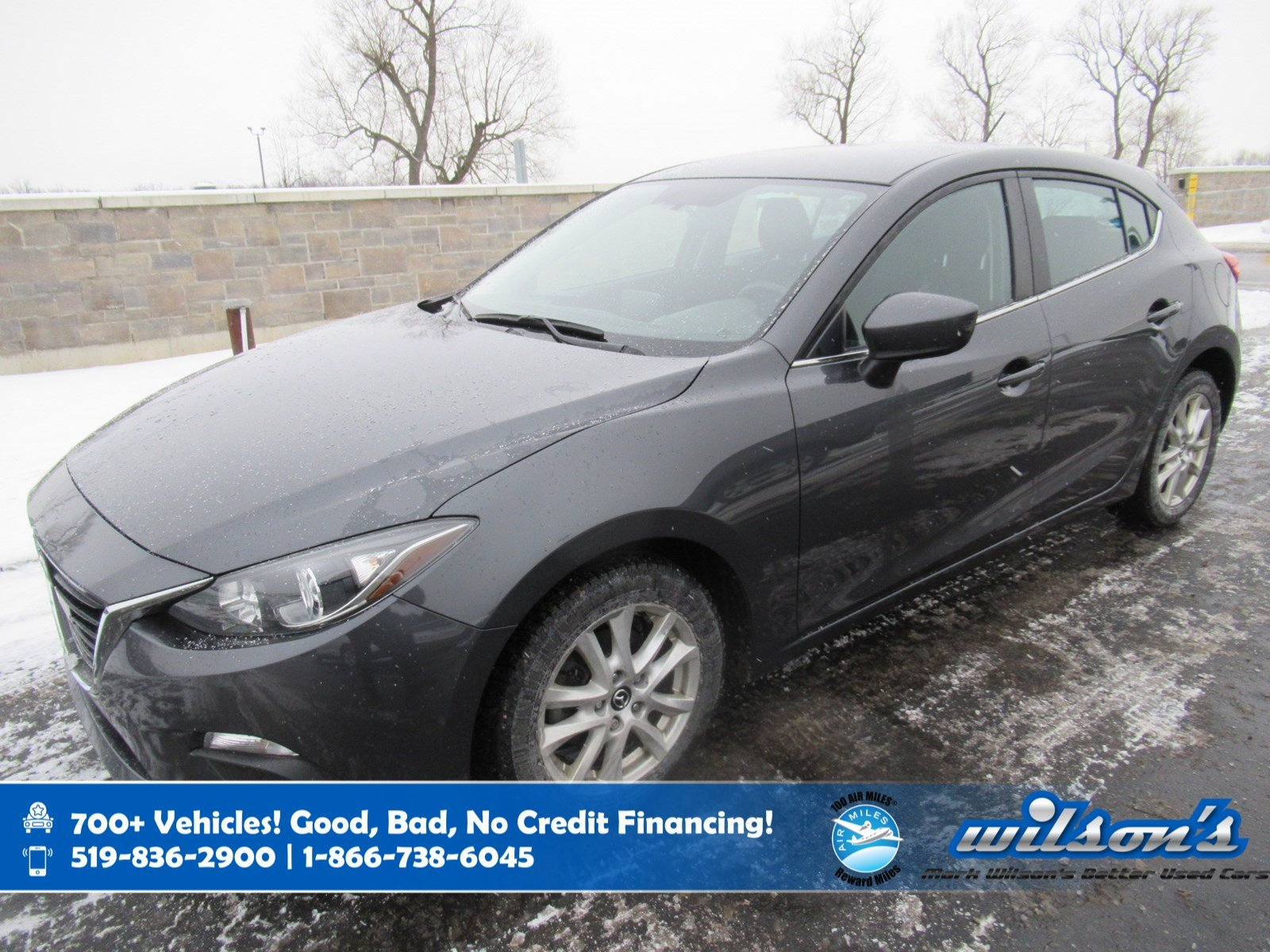 Certified Pre-Owned 2016 Mazda3 GS Hatchback, Navigation, Rear Camera, Heated Seats, Bluetooth, Alloy Wheels and more!