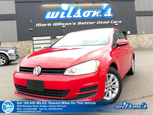 Certified Pre-Owned 2017 Volkswagen Golf Trendline - NEW TIRES! Heated Seats, Bluetooth, Rear Camera, Alloy Wheels and more!