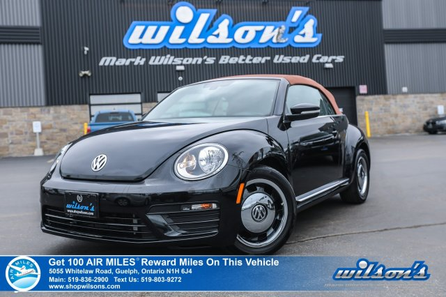 Certified Pre-Owned 2017 Volkswagen Beetle Convertible Classic! Leather Trim, Rear Camera, Heated Seats, Bluetooth, and more!