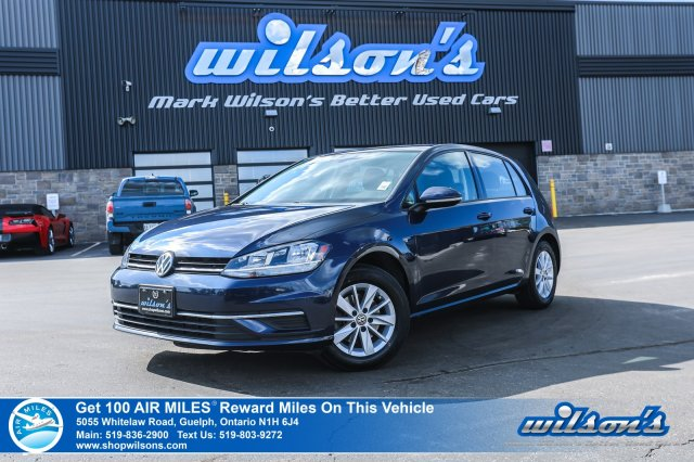 Certified Pre-Owned 2018 Volkswagen Golf Trendline Hatchback - NEW TIRES! Heated Seats, Bluetooth, Rear Cam, Alloy Wheels & more!
