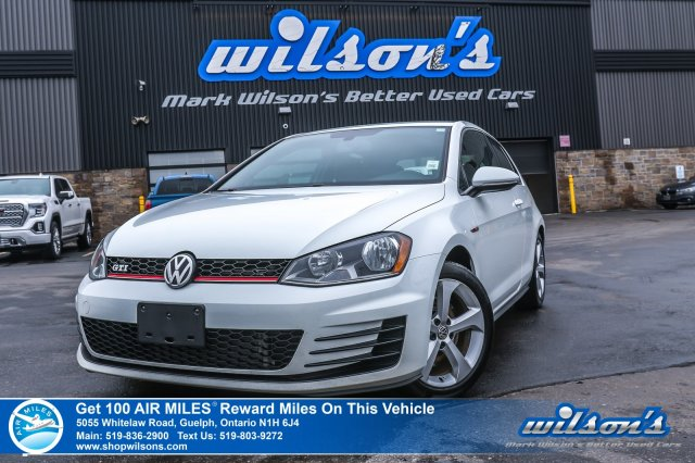 Certified Pre-Owned 2015 Volkswagen Golf GTi 3-Door! 6 Speed with Heated Seats, Bluetooth, Clark Cloth, A/C, Cruise Control, Alloys & More