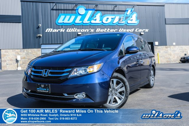 Certified Pre-Owned 2016 Honda Odyssey Touring - Leather, Navigation, DVD, Sunroof, Heated Seats, Power Sliding Doors + Liftgate and more!