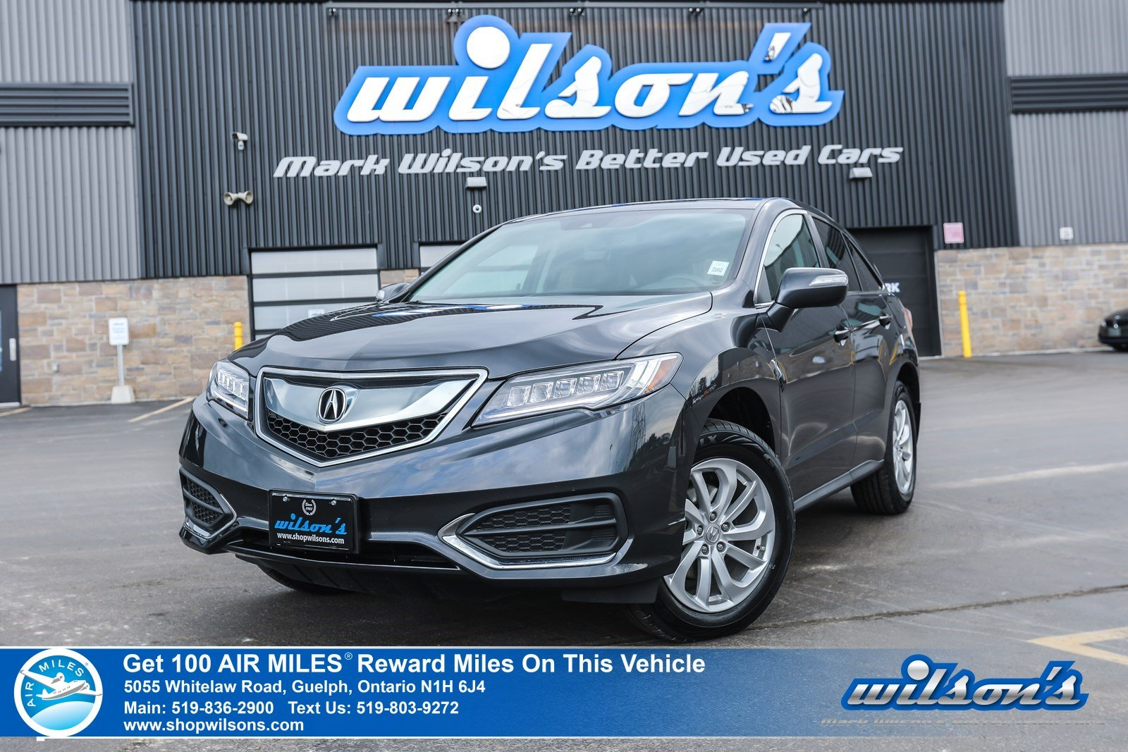 Certified Pre-Owned 2016 Acura RDX AWD Used - NEW TIRES! Leather, Sunroof, Heated Seats, Bluetooth, Rear Camera, Alloys and more!
