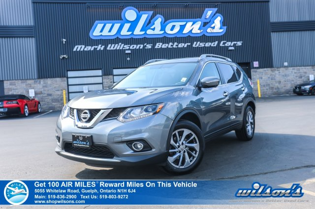Certified Pre-Owned 2015 Nissan Rogue SL AWD - Leather, Navigation, Sunroof, 360 Camera, Bluetooth, Heated + Power Seats and more!