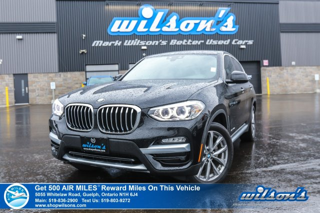 Certified Pre-Owned 2018 BMW X3 AWD - Leather, Sunroof, Navigation, Rear Camera, Bluetooth, Blind Spot Monitor, Heated Seats