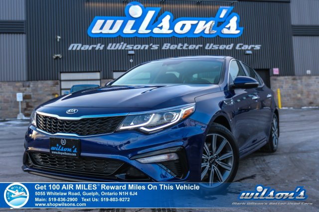 Certified Pre-Owned 2019 Kia Optima LX+ Rear Camera, Heated Steering & Seats, Android Auto & Apple CarPlay, Blind Spot, and more!