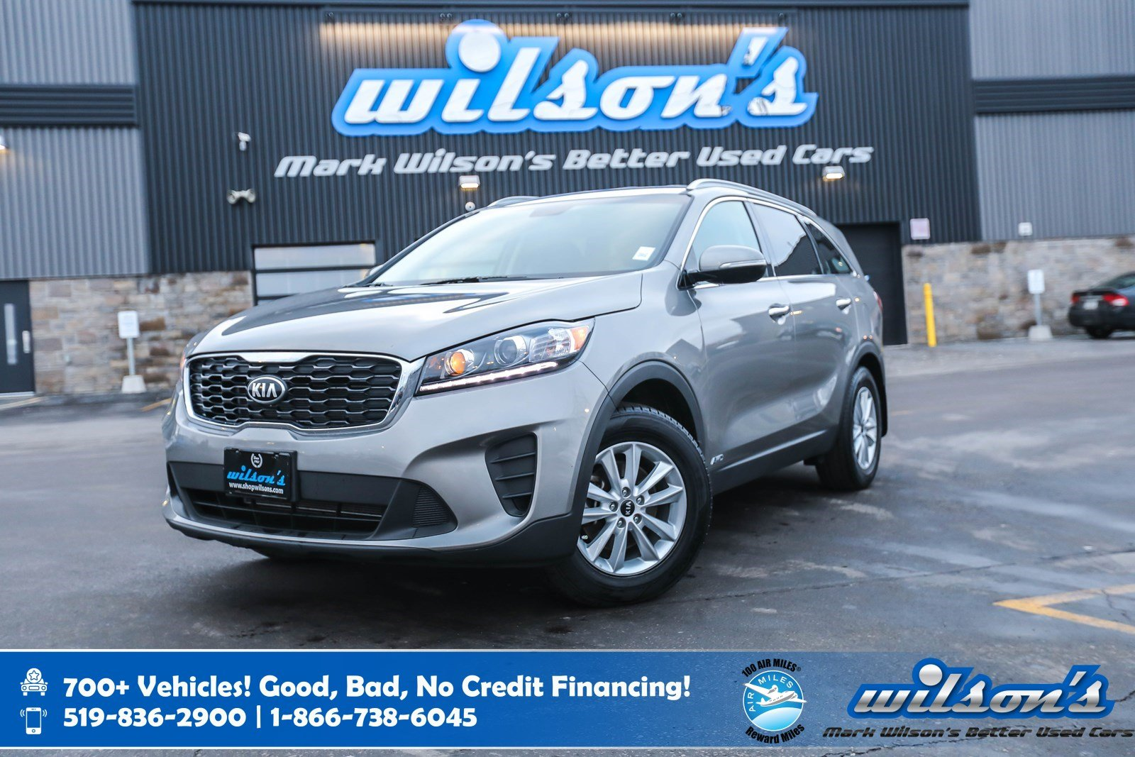 Certified Pre-Owned 2019 Kia Sorento LX AWD, Heated Seats + Steering, Roof Rails, Apple CarPlay + Android Auto, Bluetooth and more!