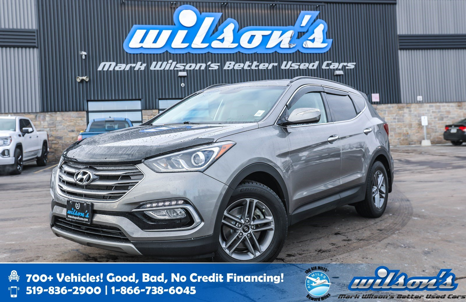Certified Pre-Owned 2017 Hyundai Santa Fe Sport Premium AWD, Rear Camera, Bluetooth, Heated Steering + Seats, BlindSpot + Rear Traffic Alert