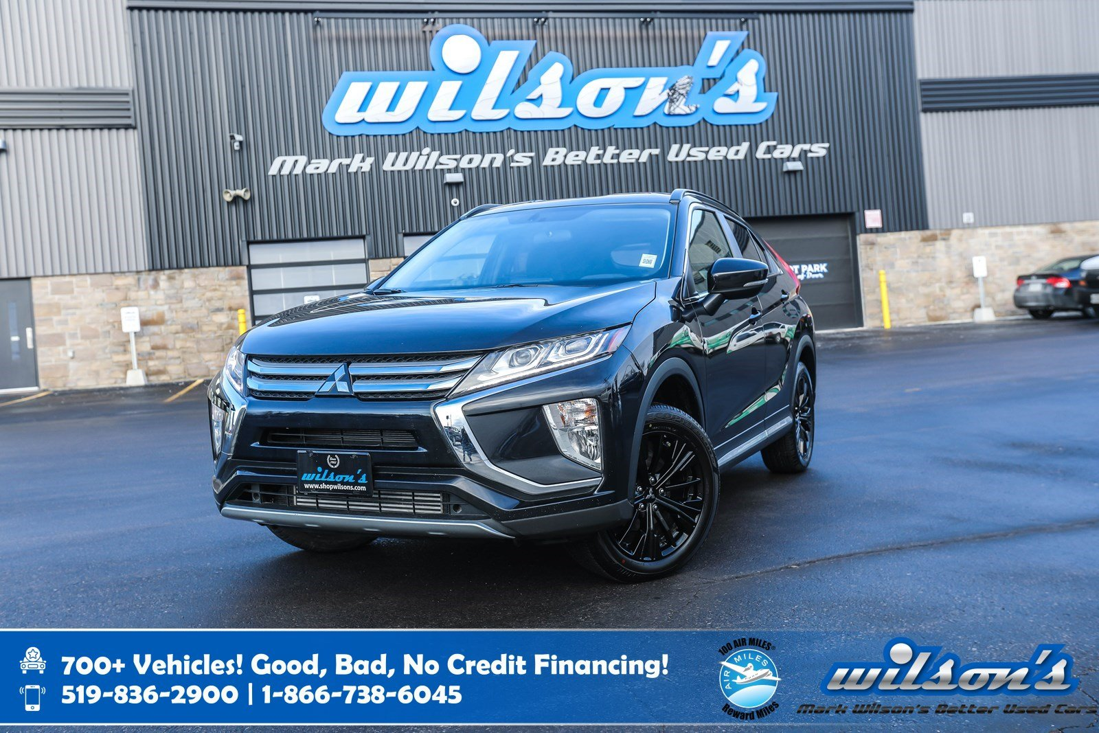 Certified Pre-Owned 2019 Mitsubishi Eclipse Cross SE Black Edition AWD, Heated Steering, Heated Front + Rear Seats, Blindspot Warning and more!