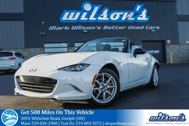 Certified Pre Owned 2016 Mazda MX 5 GX CONVERTIBLE SOFT TOP! BLUETOOTH!