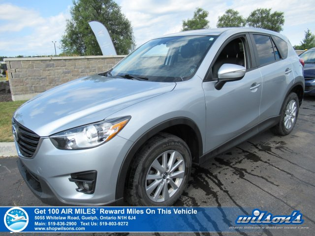 Certified Pre-Owned 2016 Mazda CX-5 GS AWD with Leather, Sunroof, Blind Spot Monitor, Rear Camera, Bluetooth & More!