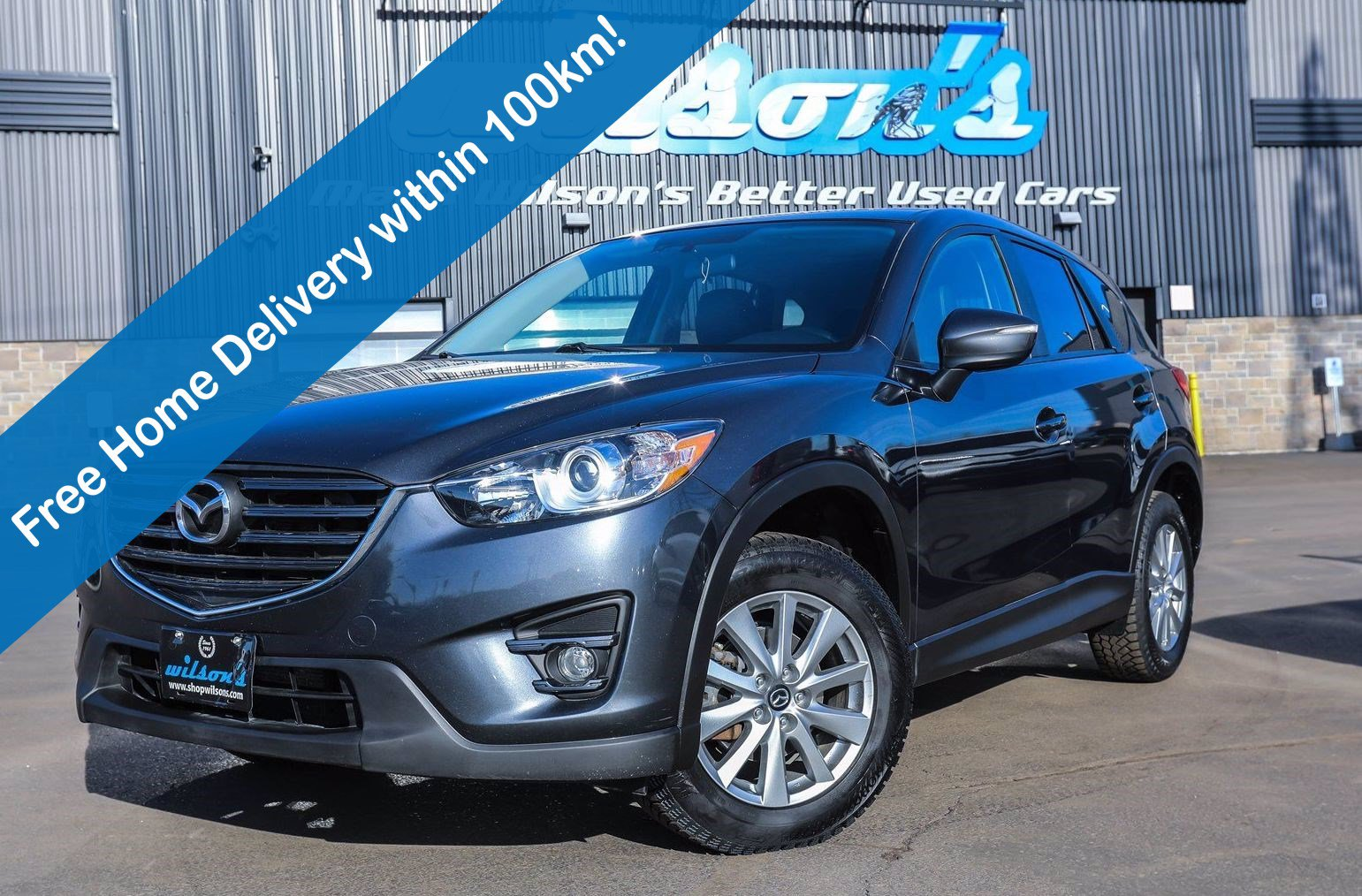 Certified Pre-Owned 2016 Mazda CX-5 GS AWD, Leather, Navigation, Sunroof, New Tires, Heated Seats, Rear Camera, Alloy Wheels and more!