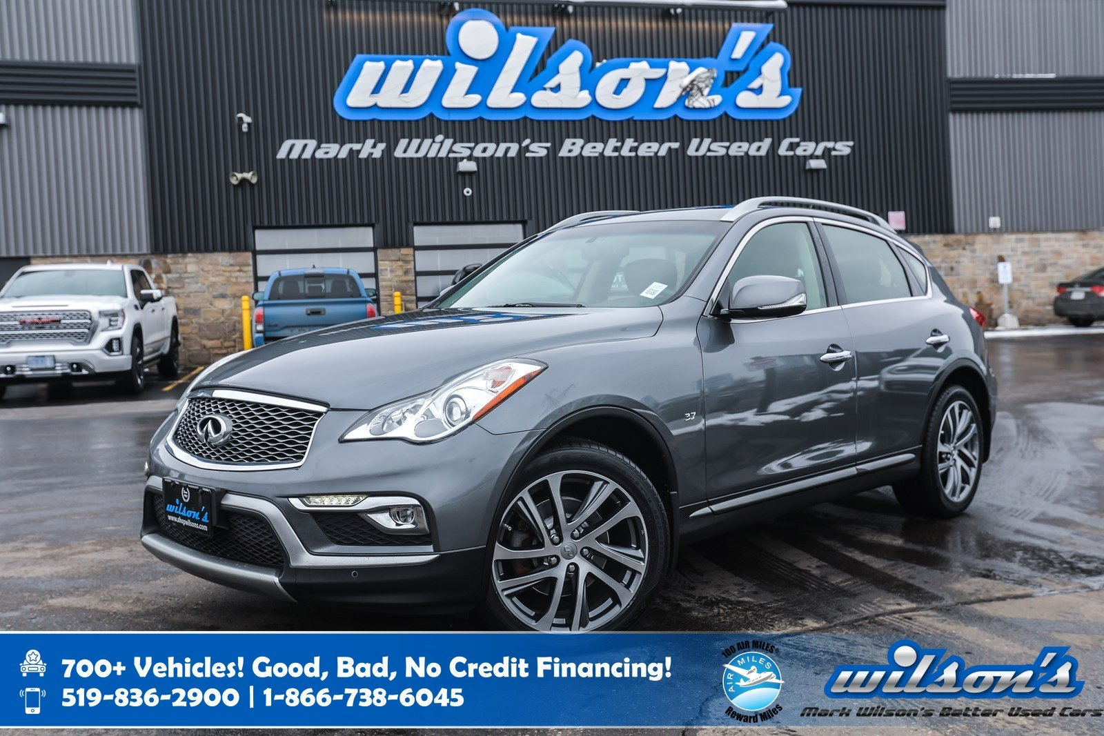 Certified Pre-Owned 2017 INFINITI QX50 AWD, Leather, Navigation, Sunroof, 360 Camera, Heated Seats, Bose Audio, Intelligent Key and more!