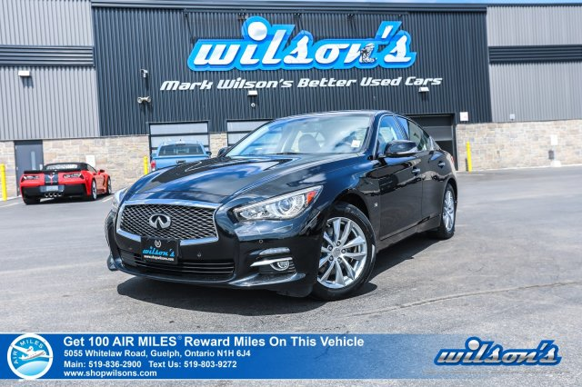 Certified Pre-Owned 2015 INFINITI Q50 AWD - NEW TIRES! Leather, Navigation, Sunroof, Rear Camera, Heated+Memory Seats, Bluetooth and more!