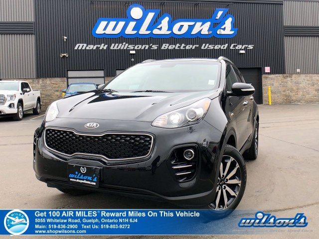 Certified Pre-Owned 2019 Kia Sportage EX AWD - Leather, Rear Camera, Bluetooth, Android Auto + Apple CarPlay, Heated Steering + Seats