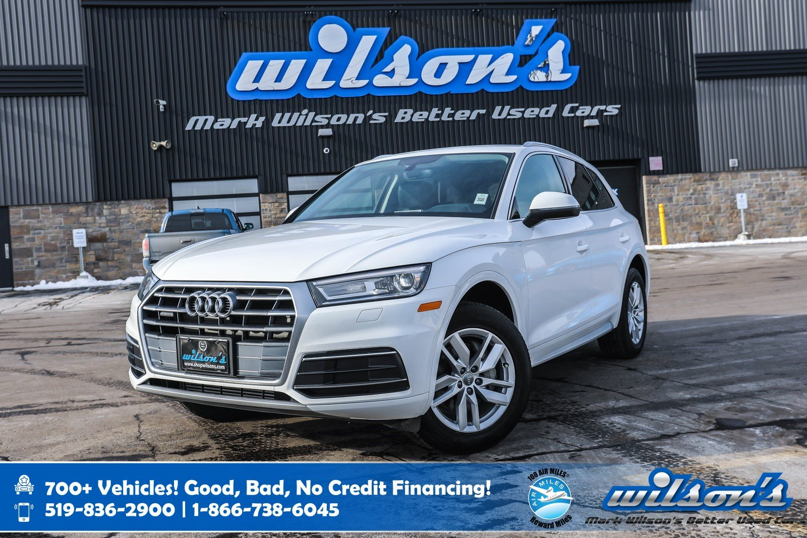 Certified Pre-Owned 2018 Audi Q5 Komfort AWD, Leather, Navigation, Heated Seats, Power Seat + Liftgate, 10 Speaker Audio & More!