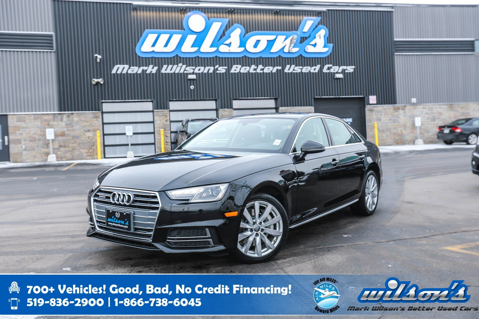 Certified Pre-Owned 2018 Audi A4 Komfort AWD, Leather, Sunroof, Power Seats, Heated Seats, Rear Camera, Proximity Key and more!