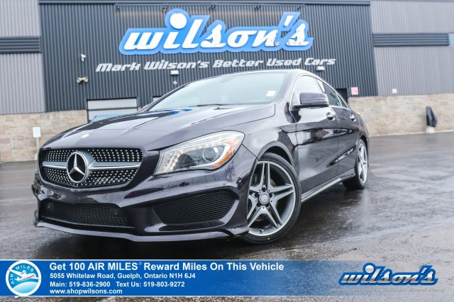 Certified Pre-Owned 2015 Mercedes-Benz CLA AWD - Leather Navigation, Sunroof,Heated + Power + Memory Seats, Blind Spot Alert and MORE!