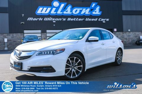 Certified Pre-Owned 2015 Acura TLX SH-AWD V6 Tech, Leather, Navigation, Sunroof, Heated + Power Seats, Bluetooth, Rear Camera, Alloys