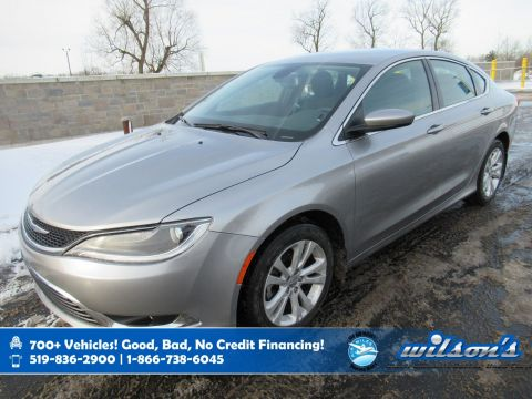 Certified Pre-Owned 2016 Chrysler 200 Limited, Heated Seats, Bluetooth, Power Seat, Keyless Entry, Alloy Wheels and more!