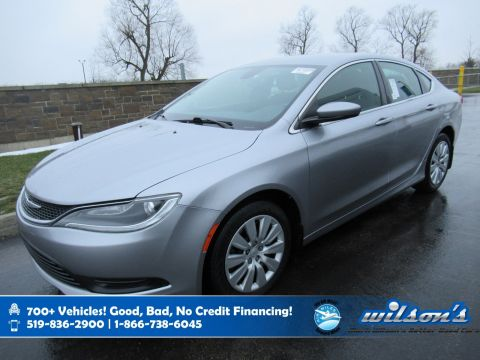Certified Pre-Owned 2015 Chrysler 200 LX, Bluetooth, Rear Camera, Keyless Entry, Cruise Control, Power Package and more!