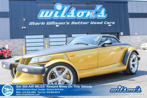 Certified Pre-Owned 2002 Chrysler Prowler 2dr Roadster Convertible - NEW TIRES! Leather, MOPAR Chrome Grill, Black Soft Top