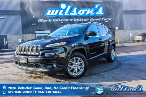 Certified Pre-Owned 2016 Jeep Cherokee North V6 4x4, Sunroof, Navigation, Heated Steering, New Tires, Rear Camera, Tow Package and more!